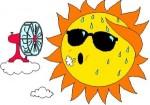 sweating sun