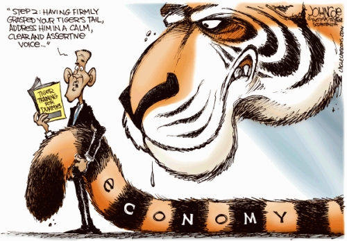Catch a Tiger by the tail.