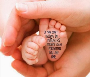 If you don't believe in Miracles, perhaps you've forgotten that you are One! The Miracle is in You!
