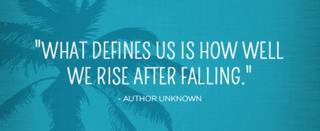 Rising after falling