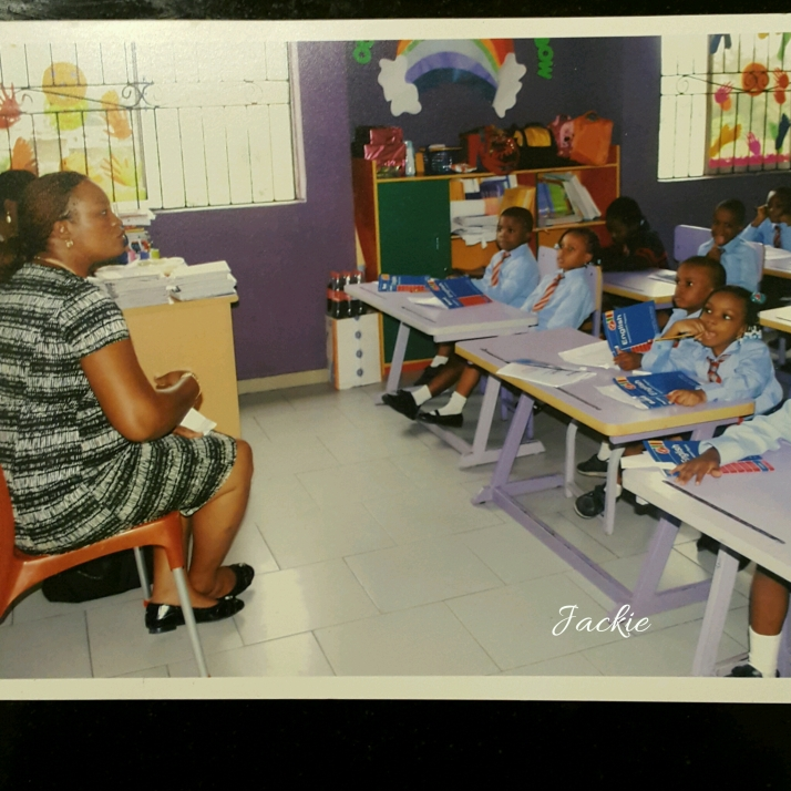 One of the voluntary days spent teaching children etiquette in a school in Lagos