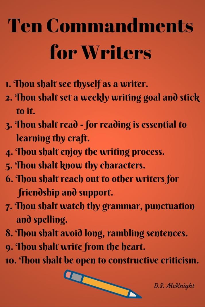 Ten Commandments for Writers (1)