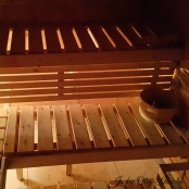 The sauna helps to work out the kinks in those bunched muscles. Toss in a good professional massage and I am in happy land :-)