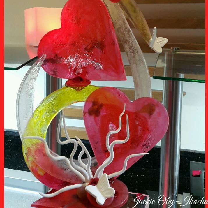 A beautiful sugar craft love piece.