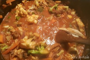 Veggie sauce bubbling on the gas :-)