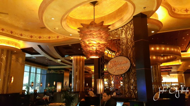 Cheesecake Factory. To be visited at your waistline's detriment ;-)