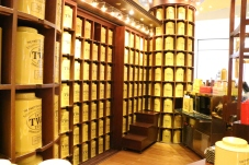 Rows and rows of tea in big tins