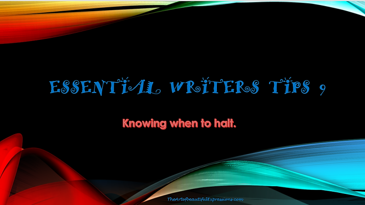 Essential Writers Tips
