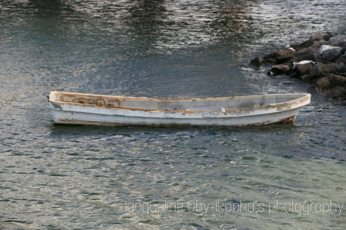 Lonely boat, photograph
