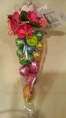 I noticed little bags of colourful egg shaped goodies popping up