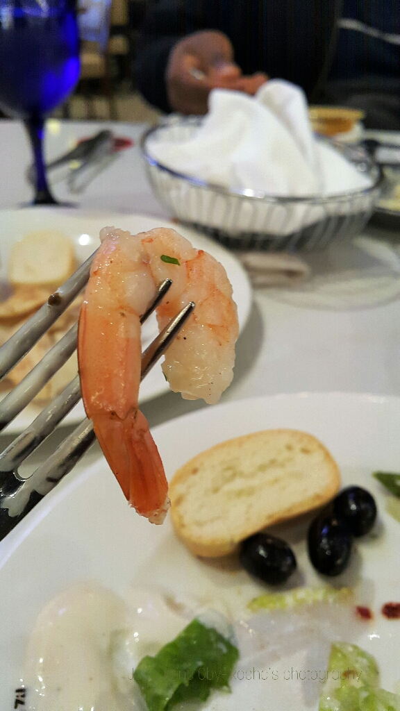 Fine dining, prawns, dinner