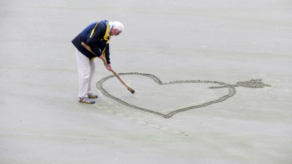 Love, Elderly couple, Spring