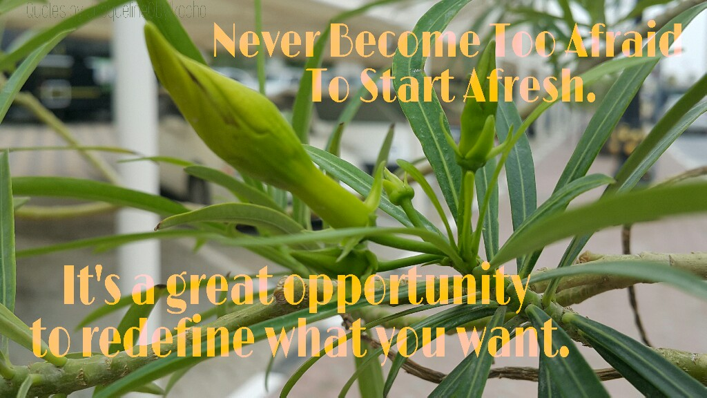 New beginning, redefine you, fresh start, new opportunities, Quotes