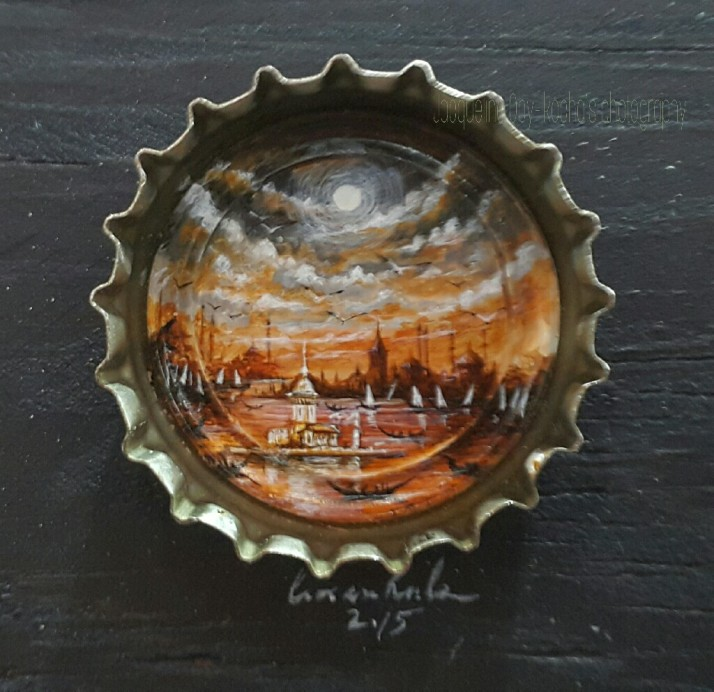 Fine Art, Beautiful Things, Artist, Art on Bottle Cap