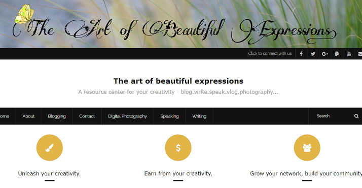 The Art of Beautiful Expressions, Blog
