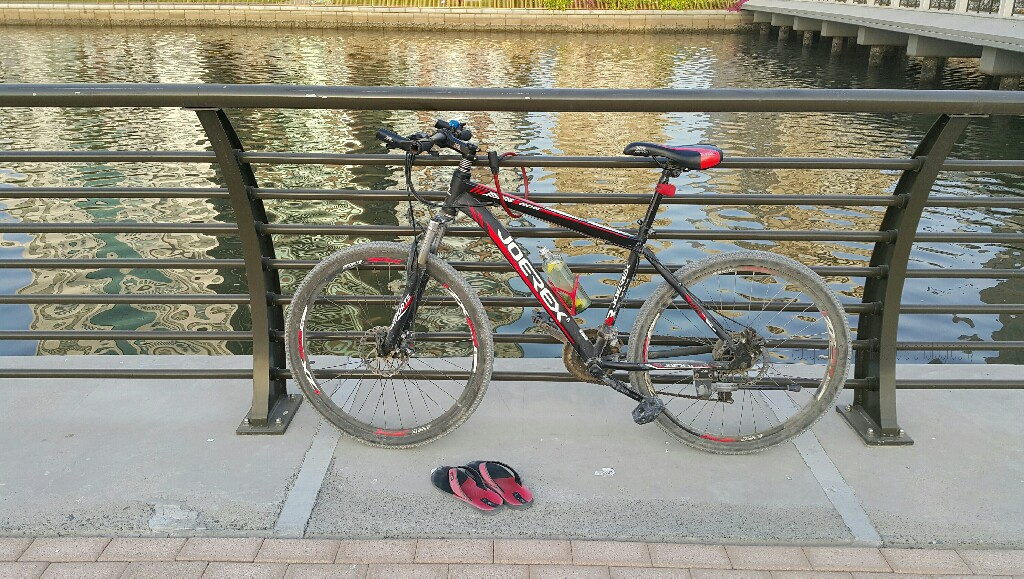 Bicycle, Slippers, photograph, locomotion
