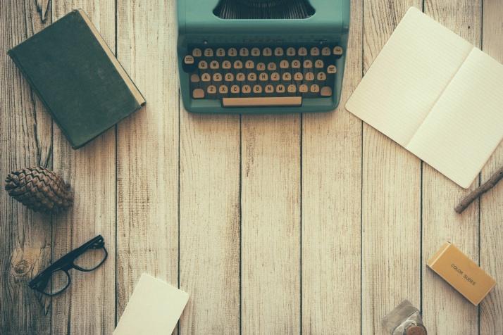 Writing, Typewriter, Notepad, Notebook, Workspace, Glasses, Writer
