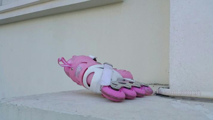 Roller Blades, Pink, Photograph