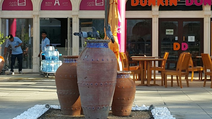 Urn, Fountain, Birds, Water, Nature, Life, Photograph