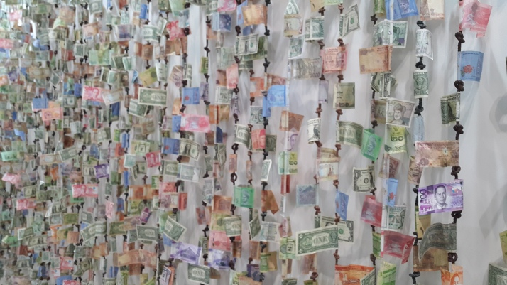 Collage, Money from around the world, art, creativity, photographs