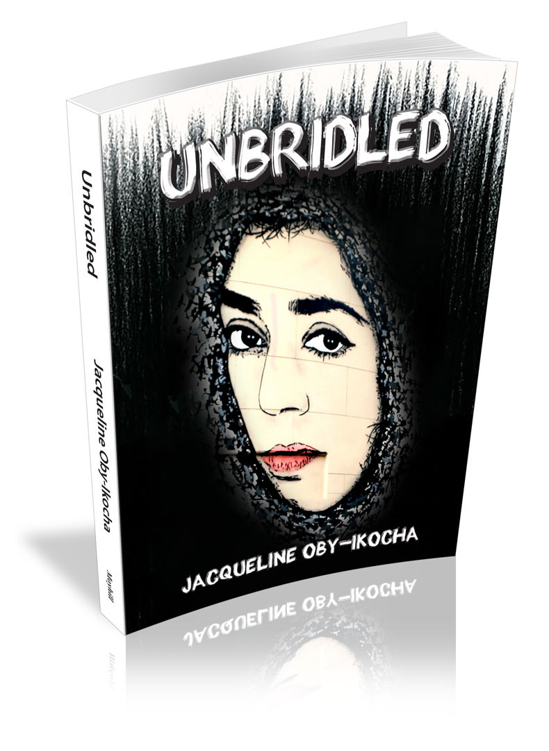 Book cover, Unbridled, Poetry book, Jacqueline Oby-Ikocha, Bold Must-read