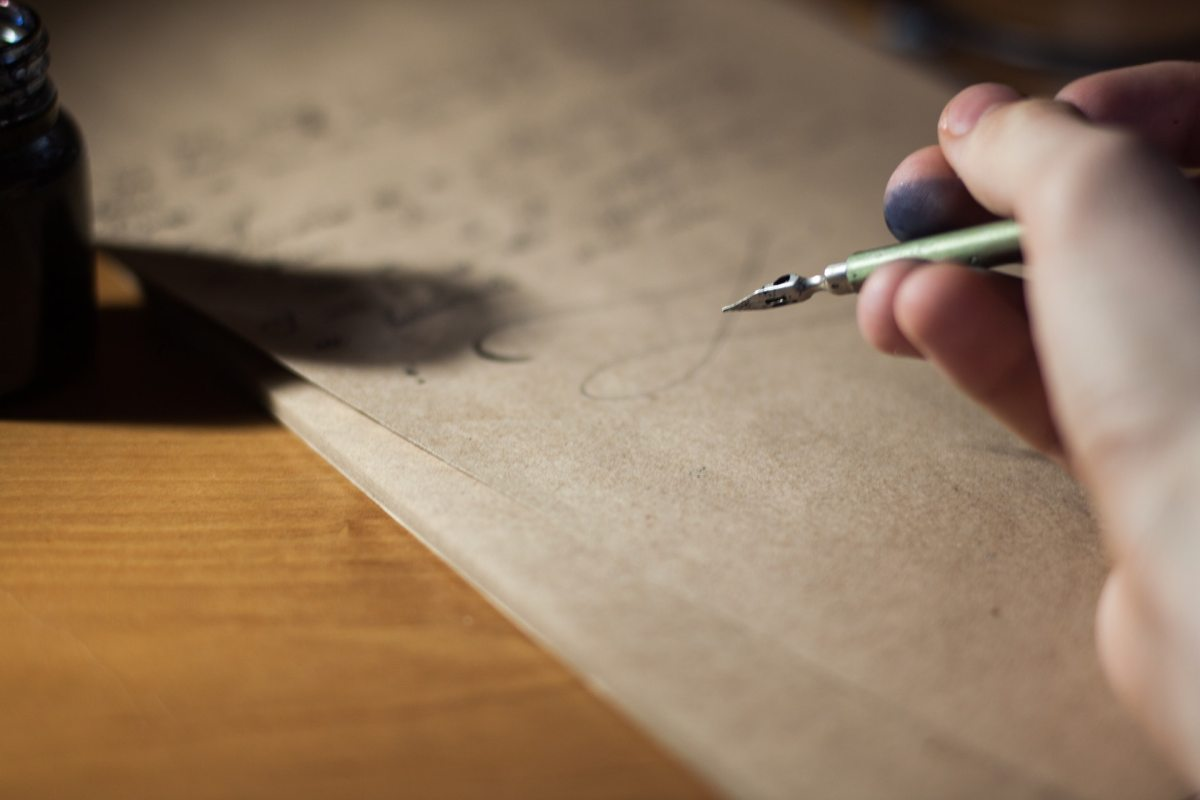 letter writing, handwriting, poetry