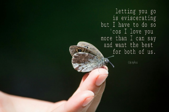 Letting Go, Poetry Card, Feelings, Relationships, Butterfly