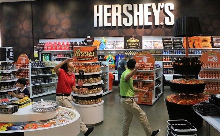 I guess when you eat the Hershey's you feel sweet enough to dance the happy dance.
