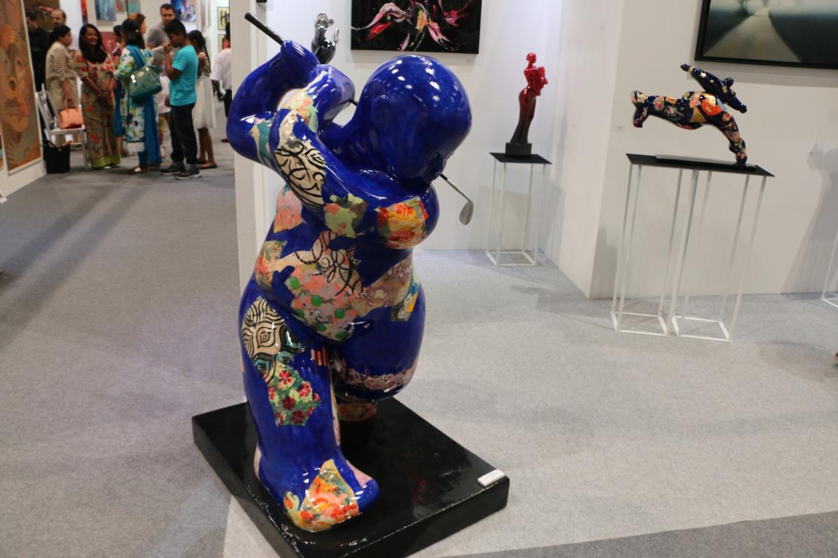 Art, Sculpture, Beautiful, Creativity, Golfing, Japanese