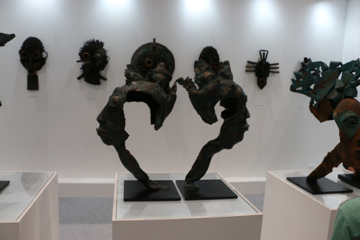 Iron Mask, Bronze Work, Artwork, Deity,
