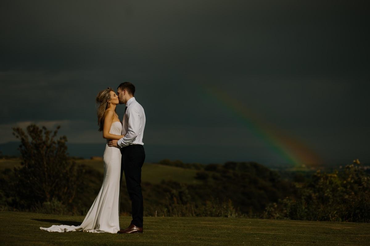 Romantic, Couple, Rainbow, Poetry