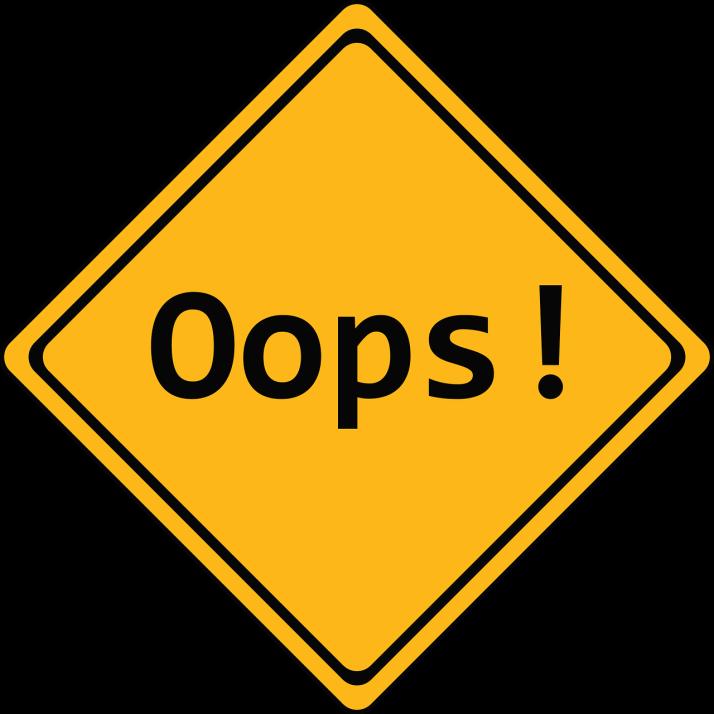 Oops! Error